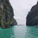 phot of beautiful bay at phi phi islands by private speedboat from krabi