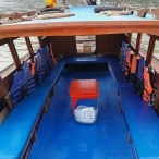 photo of the interior of longtailboat in krabi thailand