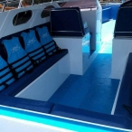 photo of speedboat interior ao nang krabi thailand