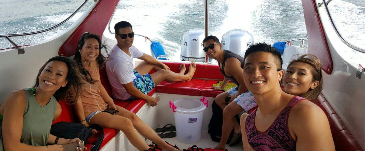 Happy customers of private boat rental in Krabi